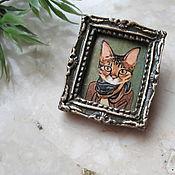 Украшения handmade. Livemaster - original item Cat brooch, kitten brooch, polymer clay brooch. Handmade.
