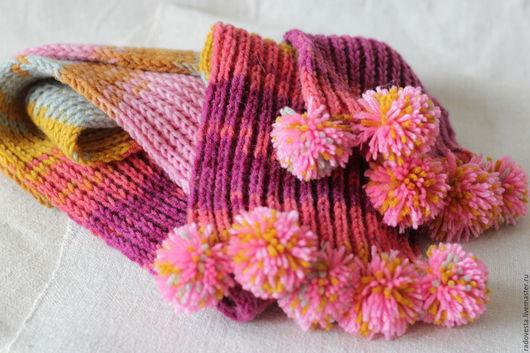 """Шарфы и шарфики ручной работы. Ярмарка Мастеров - ручная работа. Купить Шарф вязаный """"Яркий"""" шарф ручной работы. Handmade."""