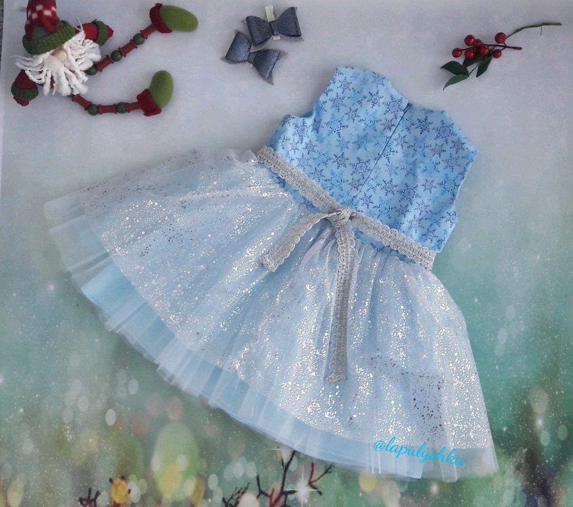 Платье праздничное, снежинка
