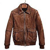 Мужская одежда handmade. Livemaster - original item Men`s outerwear, made of genuine leather, suede dressing!. Handmade.