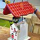 """Экстерьер и дача ручной работы. Заказать Кормушка для птиц с дозировкой (""""Снегири"""") набор для сборки с красками. Мастерская №13. Ярмарка Мастеров."""
