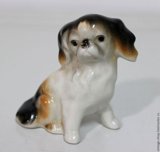 Винтажные предметы интерьера. Ярмарка Мастеров - ручная работа. Купить Фарфоровая статуэтка собачки, клеймо, Германия, 1960-е г.г.. Handmade.