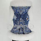 """Одежда ручной работы. Ярмарка Мастеров - ручная работа Жилет с отстегивающимся капюшоном """"Морозко-4"""" с мехом песца. Handmade."""