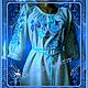 """Блузки ручной работы. Заказать Блуза """"Голубые розы"""". Индивидуальная вышиваночка. (oksanetta). Ярмарка Мастеров. Орнамент, шёлковые нитки"""