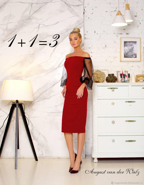 Платье футляр, рукава веснушки. Офисное платье, Платья, Санкт-Петербург, Фото №1