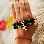 Украшения handmade. Livemaster - original item A set of bracelets of cat`s eye. Handmade.