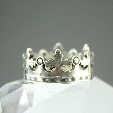 Decorations handmade. Livemaster - original item 925 sterling silver Crown ring. Handmade.