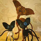 Куклы и игрушки handmade. Livemaster - original item Sphinx black cat with blue eyes. Handmade.