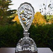 Винтаж handmade. Livemaster - original item Crystal perfume bottle Czechoslovakia 1970 Jablonec nad Nisou. Handmade.