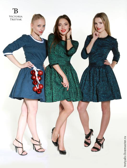 Платья ручной работы. Ярмарка Мастеров - ручная работа. Купить Платье. Handmade. Зеленый, Платье на Новый год, платье для выпускного