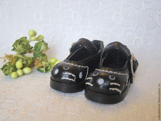 Куклы и игрушки ручной работы. Ярмарка Мастеров - ручная работа. Купить Обувь кукольная. Handmade. Черный, туфли для кукол