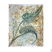 Картины и панно ручной работы. Ярмарка Мастеров - ручная работа Листья. Монотипия.. Handmade.