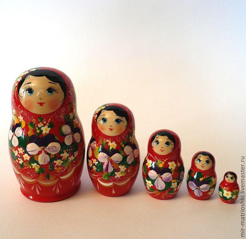 Matryoshka 5 local Floral small 9, Dolls1, Sarov,  Фото №1