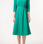 Одежда ручной работы. Ярмарка Мастеров - ручная работа Бирюзовое платье с пышной юбкой. Handmade.