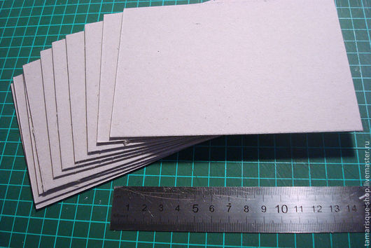 Открытки и скрапбукинг ручной работы. Ярмарка Мастеров - ручная работа. Купить Переплетный картон 10х15 см 1,5 мм. Handmade.
