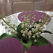 Цветы и флористика ручной работы. Ярмарка Мастеров - ручная работа ландыши из фоамирана. Handmade.