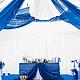 Свадебные цветы ручной работы. Композиция на президиум из синих гортензий. Ксения. Ярмарка Мастеров. Композиция для президиума, синии гортензии