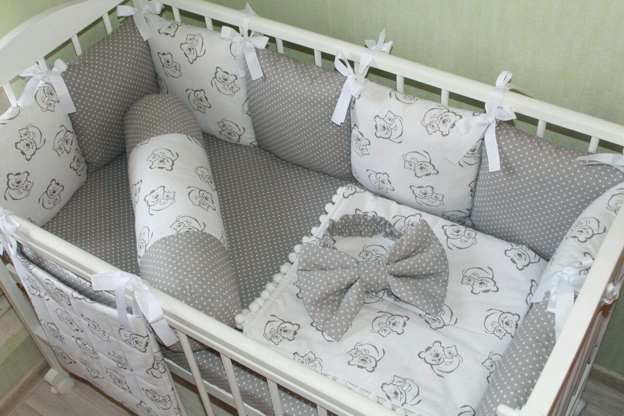 Как сшить бортики подушки в кроватку для новорожденного