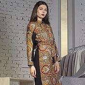 Одежда handmade. Livemaster - original item Dress shirt casual pavloposad kerchiefs in the Russian style. Handmade.