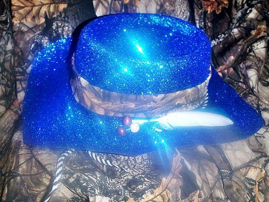 Шляпы ручной работы. Ярмарка Мастеров - ручная работа. Купить Ковбойская шляпа с перьями для праздника или фотосессии. Handmade.
