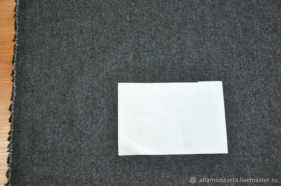 Фланель стрейч шерсть темно-серого цвета, Ткани, Москва,  Фото №1