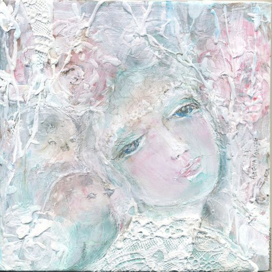 Сказочная картина, дева Щиповник, Дикая роза, сказки о цветах, картина-пано, Сказка в теплоте рук Алены Коневой