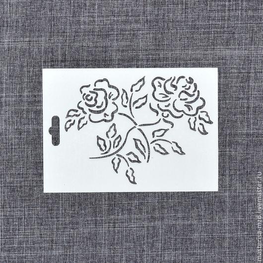 ТР-02-003. Трафарет `Две розы`.