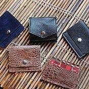 Сумки и аксессуары handmade. Livemaster - original item Coin holders: Wallet pocket for banknotes and small things made of leather and suede. Handmade.
