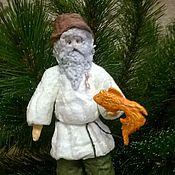 """Куклы и игрушки ручной работы. Ярмарка Мастеров - ручная работа """"Старик и море"""" - ватная елочная игрушка. Handmade."""