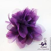 """Украшения ручной работы. Ярмарка Мастеров - ручная работа Брошь-зажим цветок """"Фиолетовая дымка"""" крупный, очень красивый. Handmade."""