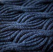 Для дома и интерьера ручной работы. Ярмарка Мастеров - ручная работа Плед вязаный WAVES полушерстяной ручная работа. Handmade.