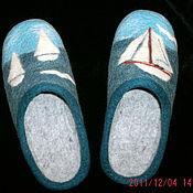 """Обувь ручной работы. Ярмарка Мастеров - ручная работа Тапочки мужские """"У моря"""". Handmade."""
