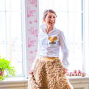 Одежда ручной работы. Ярмарка Мастеров - ручная работа Хлопковая блузка с зайчиком. Handmade.