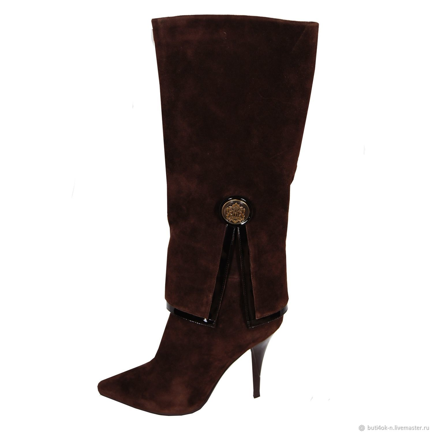 Boots genuine suede with a high shaft, High Boots, Nelidovo,  Фото №1