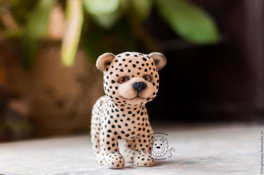 Игрушки животные, ручной работы. Ярмарка Мастеров - ручная работа. Купить Игрушка валяная Леопард. Handmade. Комбинированный, шерсть 100%