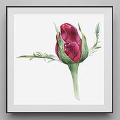 Картины и панно handmade. Livemaster - original item Red bud. Handmade.