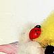 Игрушки животные, ручной работы. Заказать Солнечный зайка Скиппи. riki(Мартынова Юлия). Ярмарка Мастеров. Зайка, божья коровка, бант
