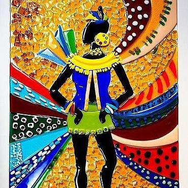 Для дома и интерьера ручной работы. Ярмарка Мастеров - ручная работа Фьюзинг. Панно. Танец. Handmade.