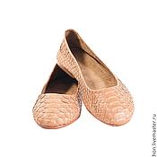 Обувь ручной работы. Ярмарка Мастеров - ручная работа Скидка! Балетки 36,5р  из кожи питона. Handmade.