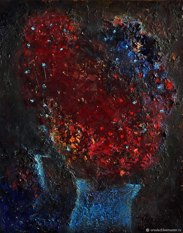 """Картина маслом """"Ночной букетик"""". холст / масло, живопись, Картины, Москва,  Фото №1"""