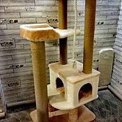 Домик для питомца ручной работы. Ярмарка Мастеров - ручная работа Комплекс для кошек номер 402. Handmade.