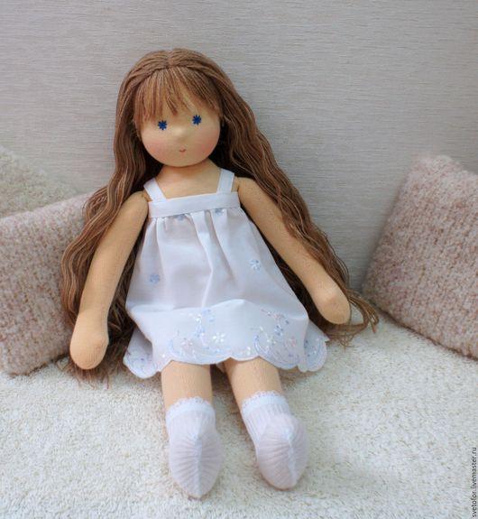 Вальдорфская игрушка ручной работы. Ярмарка Мастеров - ручная работа. Купить Ясенька, 32 см. Handmade. Желтый, кукла