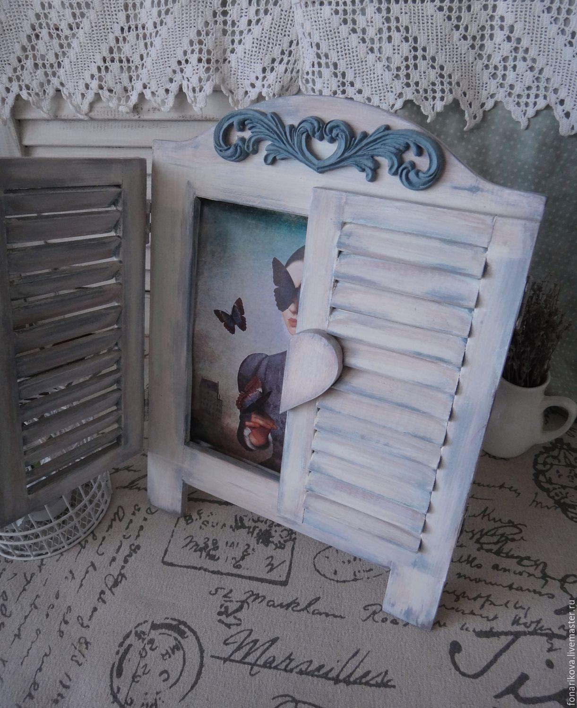"""Кухня ручной работы. Ярмарка Мастеров - ручная работа. Купить Окно со ставнями """"Doux papillon"""". Handmade. Бирюзовый"""