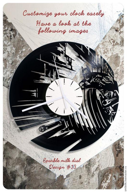 """Часы для дома ручной работы. Ярмарка Мастеров - ручная работа. Купить Часы из пластинки """"Batman"""". Handmade. Batman, комбинированный, бэтмен"""