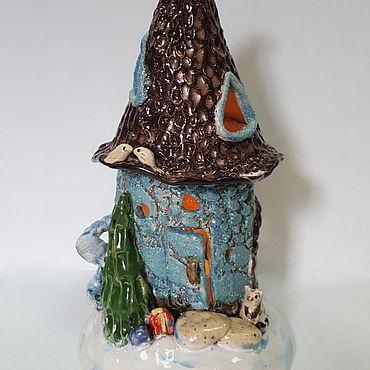 Для дома и интерьера ручной работы. Ярмарка Мастеров - ручная работа Домики: Домик - подсвечник. Handmade.