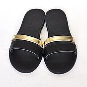 Обувь ручной работы. Ярмарка Мастеров - ручная работа Кожаные сандалии/шлепанцы с двойным ремешком. Handmade.