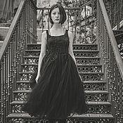 """Одежда ручной работы. Ярмарка Мастеров - ручная работа Черное платье """"Fiber"""".. Handmade."""