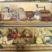 Картины и панно handmade. Livemaster - original item Painting decoupage ,,Kitchen,, kit, diptych. Handmade.