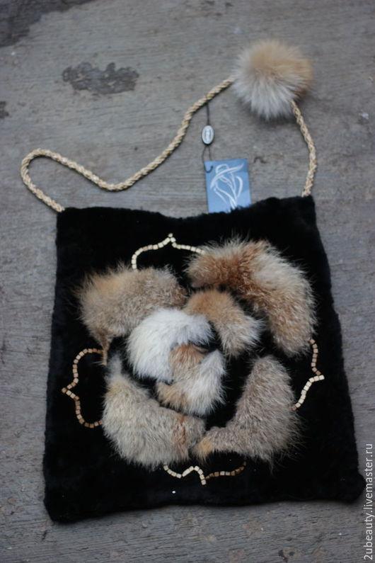 Женские сумки ручной работы. Ярмарка Мастеров - ручная работа. Купить Сумка меховая. Чёрная сумка из меха. Дизайнерская сумка.. Handmade.