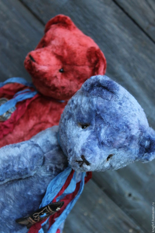 Мишки Тедди ручной работы. Ярмарка Мастеров - ручная работа. Купить Лед и Пламя. Handmade. Комбинированный, плюдш